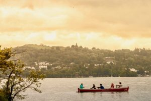 Rowing on Windermere